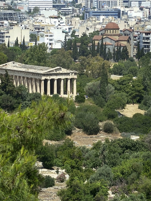 Looking down to the Agora