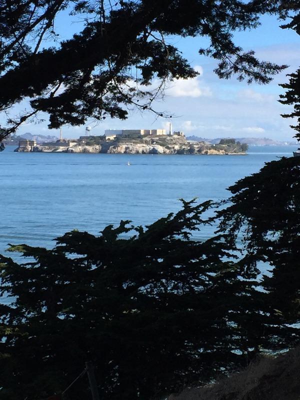 View back to Alcatraz