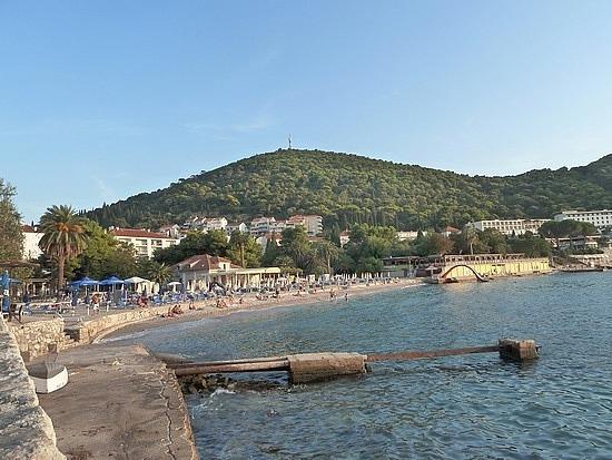 Beach at end of promenade