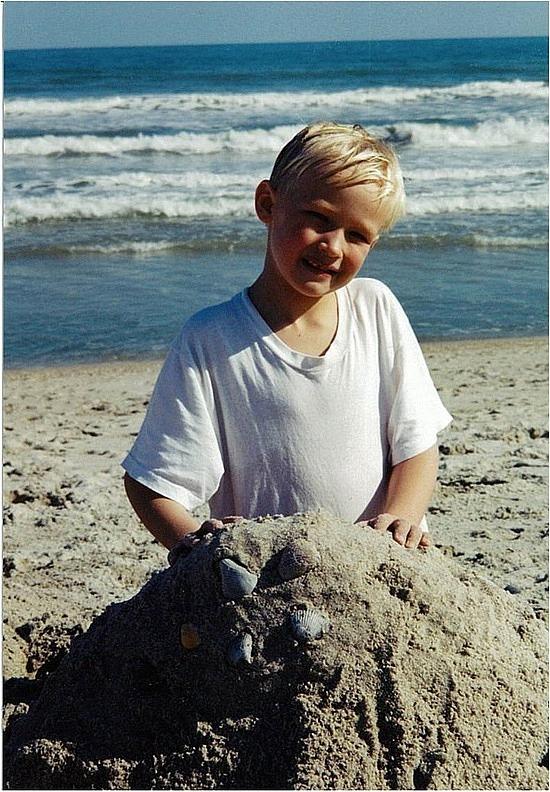 Nath on the beach