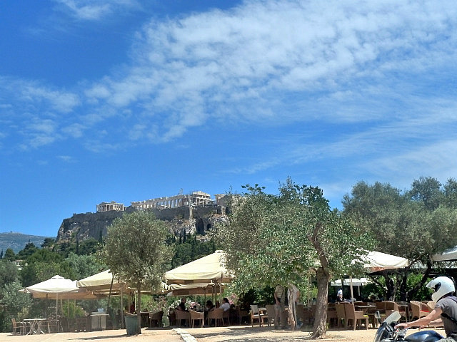 Cafes and Acropolis