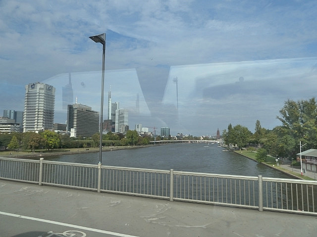 Frankfurt from bus window