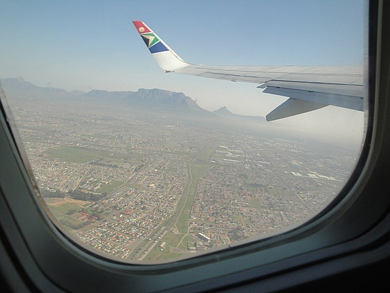 Cape Town from the plane