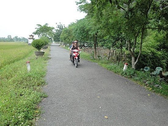 Me riding the bike!