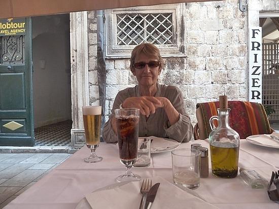Mum at  Ragusa 2 Resturant