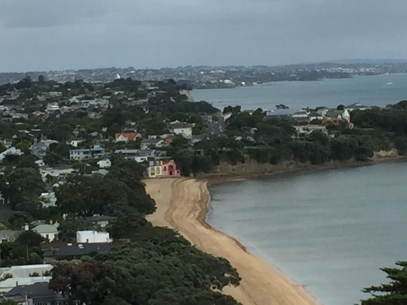 Looking back down on Cheltenham Beach