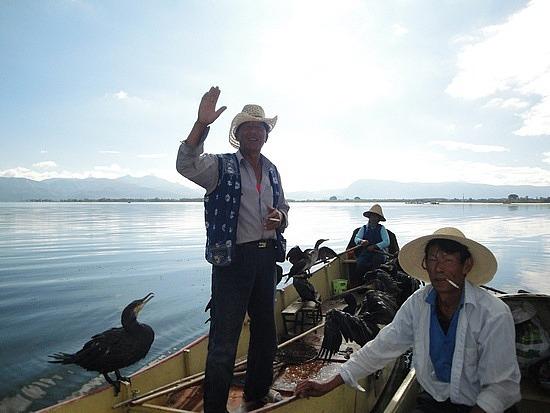 Saying goodbye to cormorant man