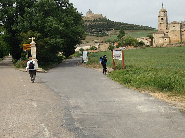 Nearing the church