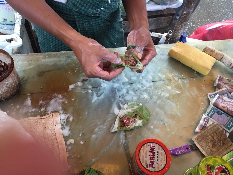 Making betel nut cigarettes