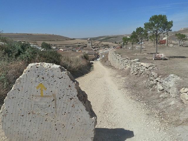 Hontanas hidden in a valley on the meseta