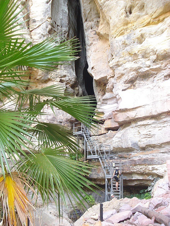 Ladder into Amphitheatre