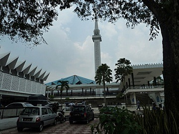 Blue roofed mosque