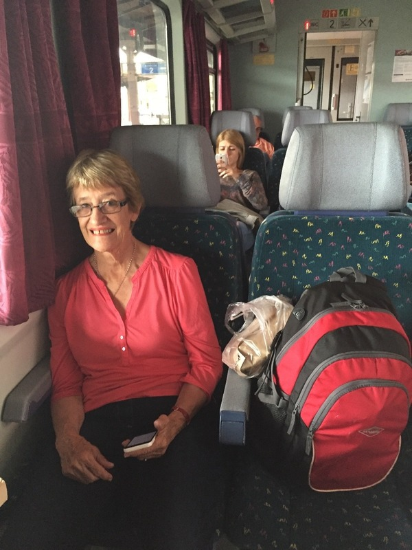 Mum on another long train trip
