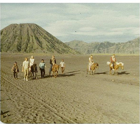Making our way back from Mt Bromo