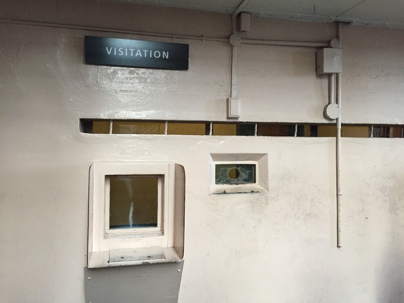 You saw visitors through these small windows
