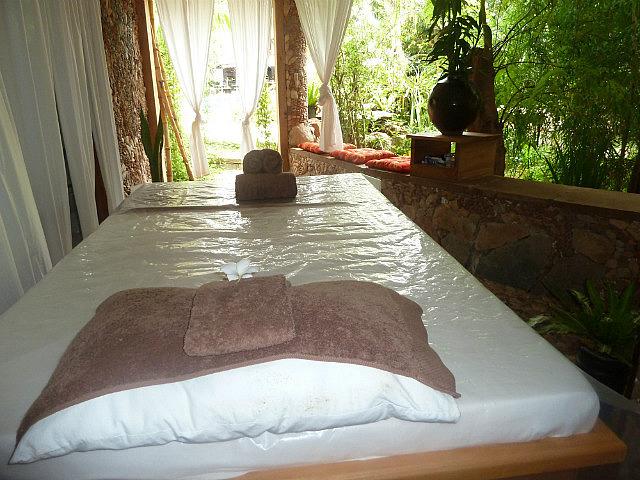 My salt scrub  & mango body wrap bed