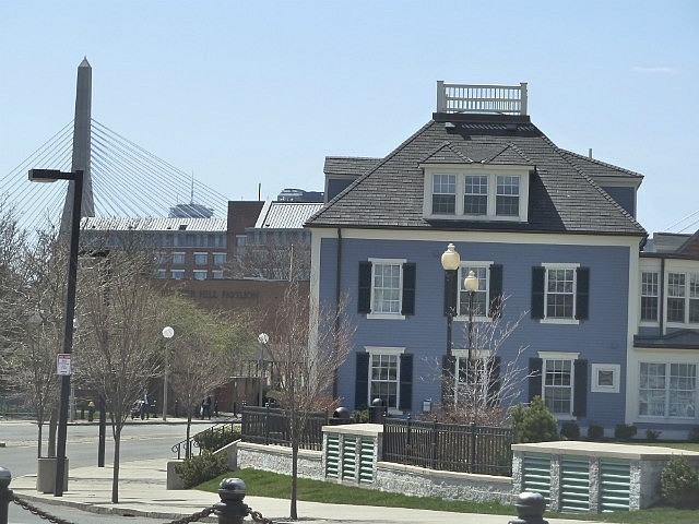 Old house with widows walk on the roof