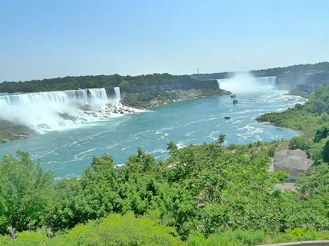 Both falls from Canada side