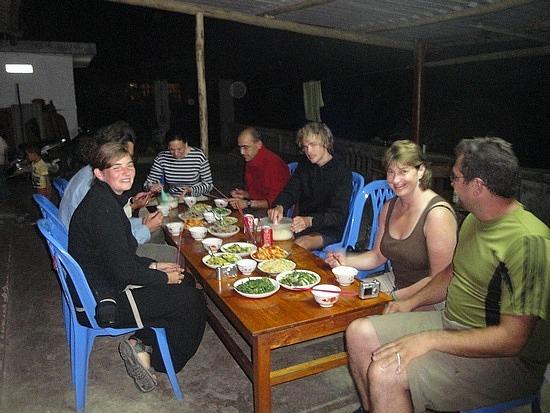 Group at homestay
