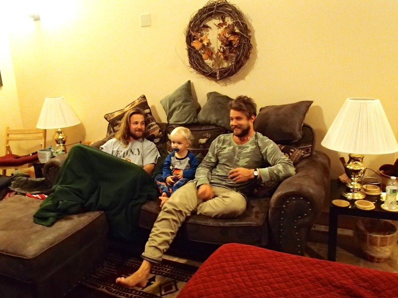Nick, Ezra and Cool Uncle Mike in the lounge