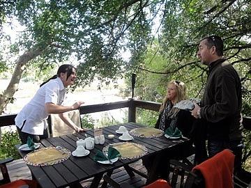 Lunch on the lodge verandah