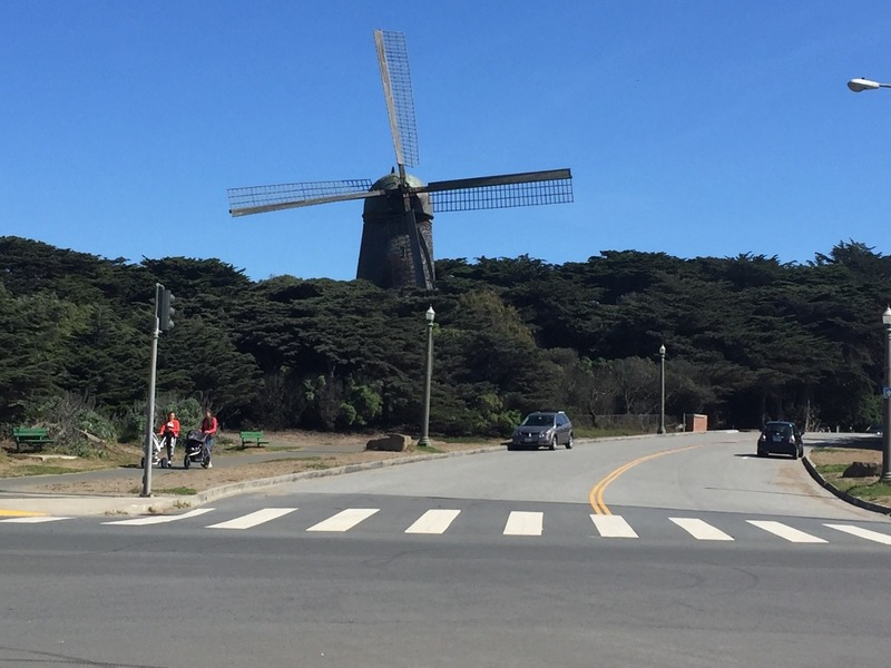 One of the 2 Dutch windmills in Golden Gate Park
