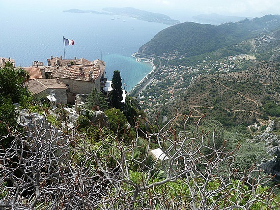 View over Eze village from the top