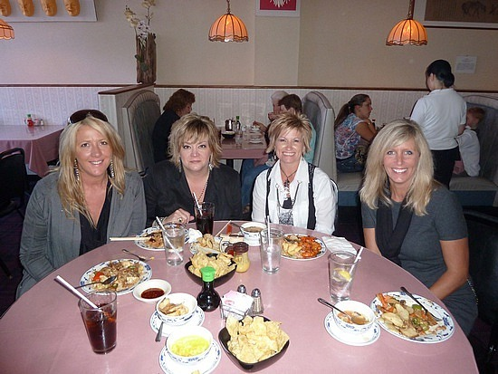 Chinese lunch with Laurie, Stacey & Rhonda