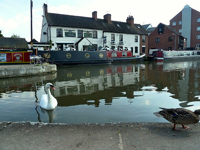 Pub with a swan - now that's English!