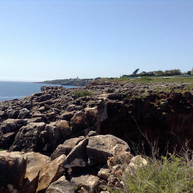 Rocky shore front