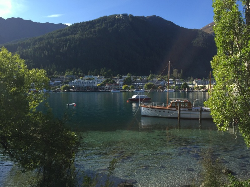 Lakefront trail in the Queenstown Gardens