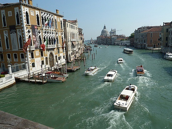 Bustling waterways of Grand Canal