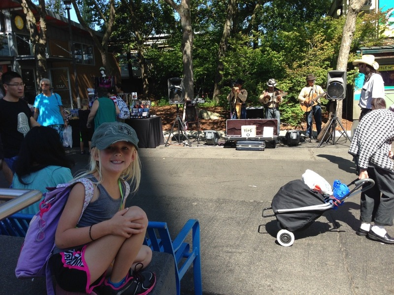 Watching buskers