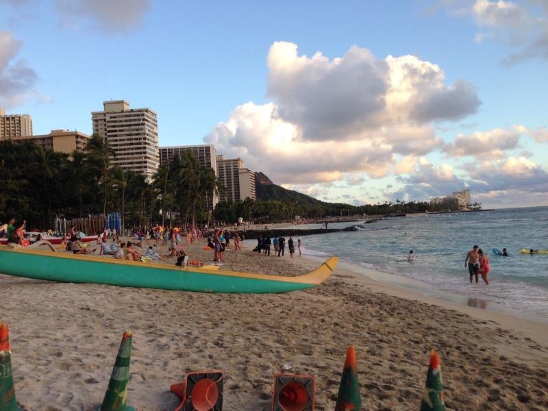 My first view of Waikiki Beach