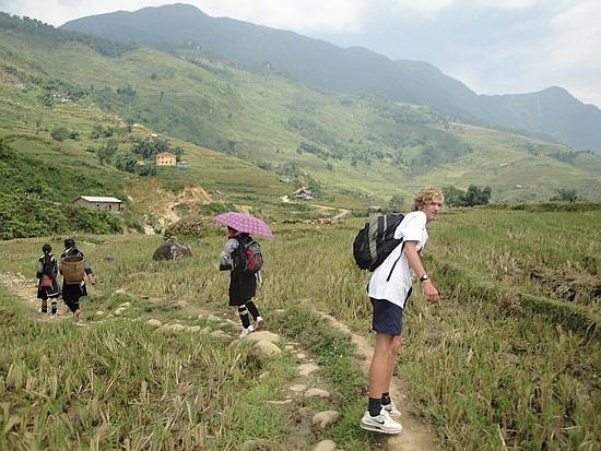 Balancing on rice ridges & stepping stones
