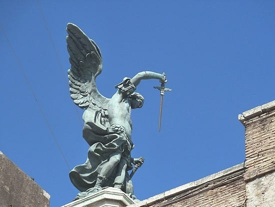 Warring angel on the top