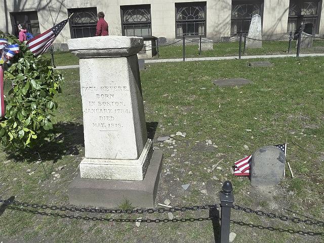 Paul Revere buried here