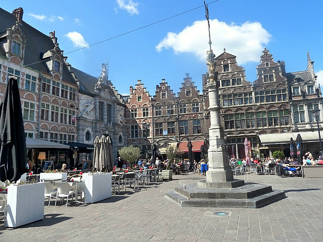 Ghent town square