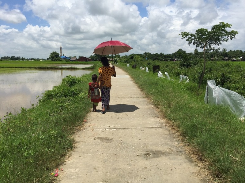 Umbrellas work for the sun and rain