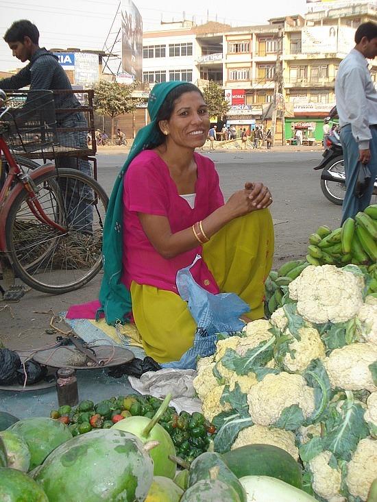 Selling veggies