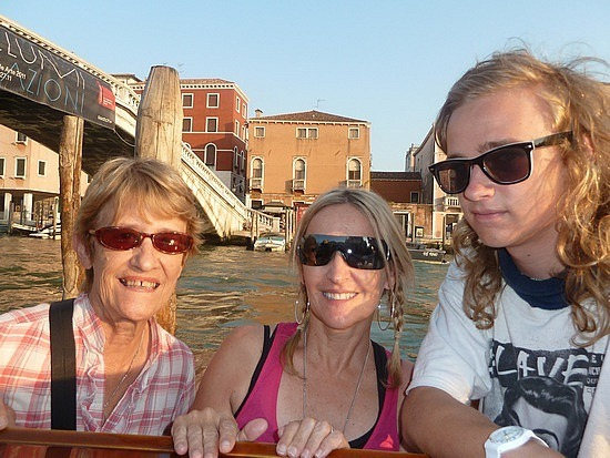 On our water taxi