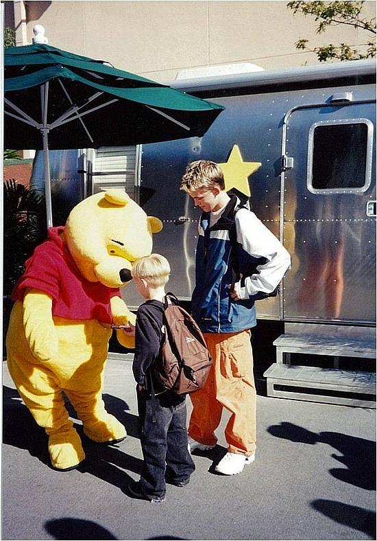 Adam & Nath with Winnie the Pooh