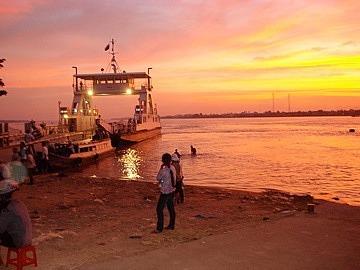 Ferry & sunset