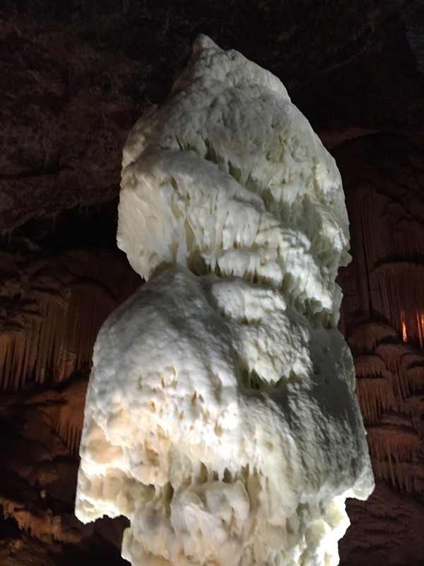 "The white "" Brilliance"" stalagmite"