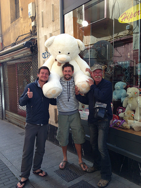 Marc with Roy who bought the bear