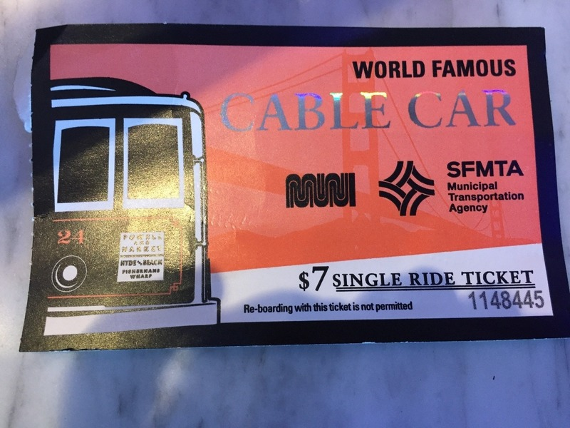 Cable Car ticket $7