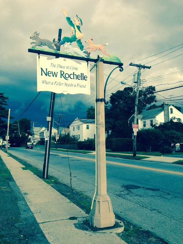 Bike rIding  through New Rochelle