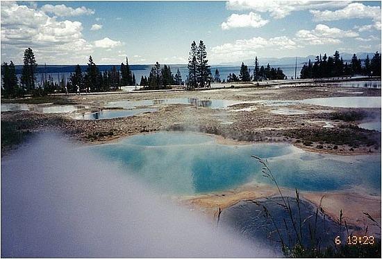 Beautiful coloured thermal pools