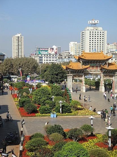 Looking over Jinbi Square