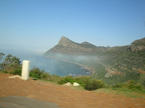 Mist coming in as we near Cape Point